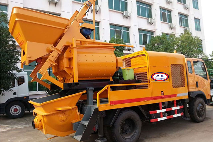 Concrete Mixer-Pump-Truck 3 in ONE Powered by Electricity or Diesel Generator