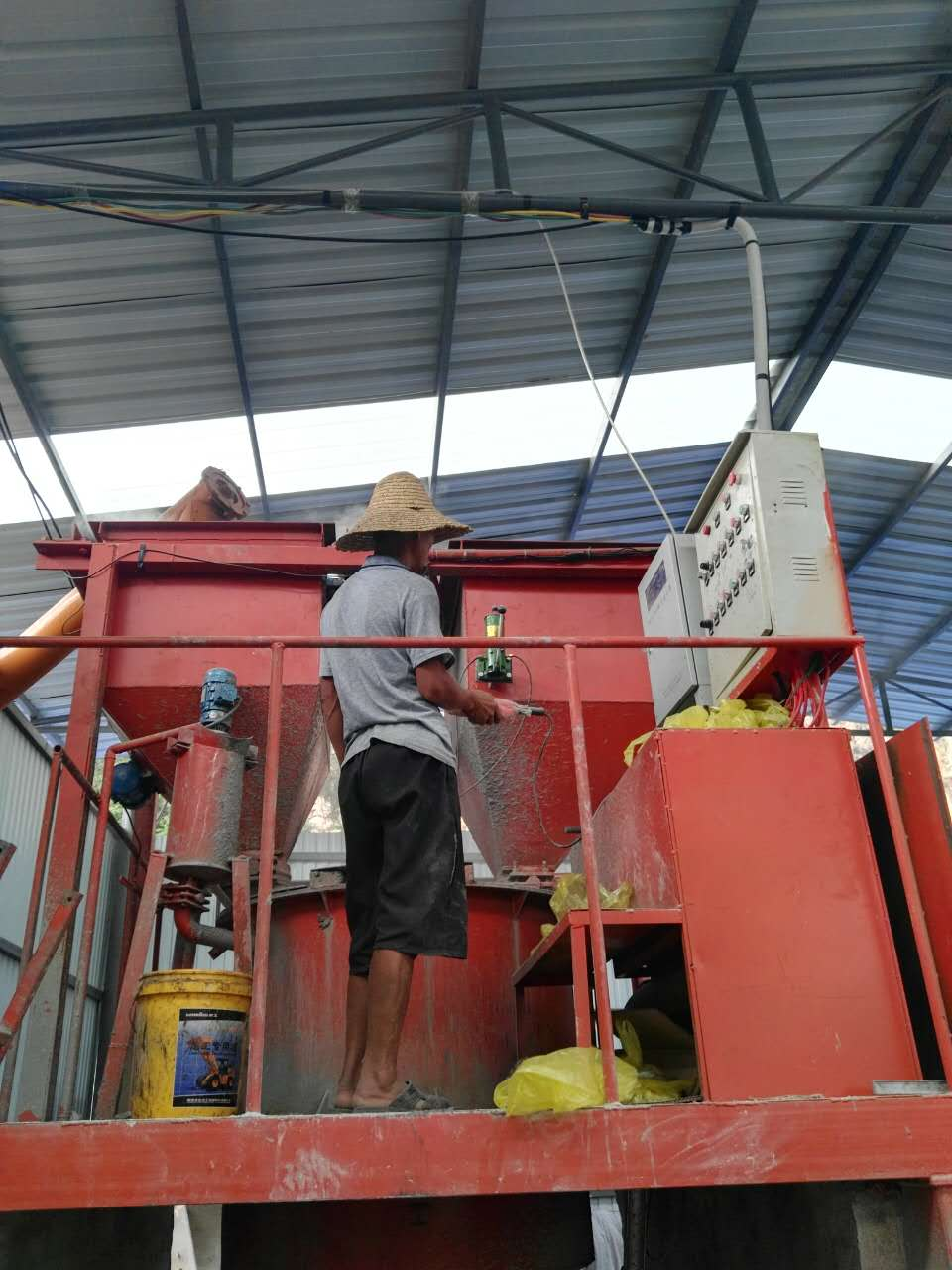 cellular light weight concrete block machine