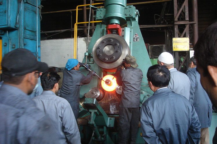 Specification of D51Y series of vertical ring rolling machine
